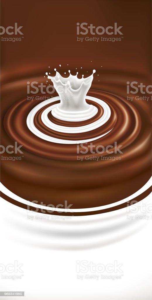 chocolate background with milk swirl splash illustration chocolate background with milk swirl splash illustration - stockowe grafiki wektorowe i więcej obrazów brązowy royalty-free