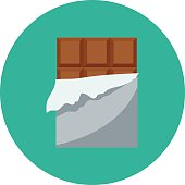 Chocolate Bar Colored Vector Icon