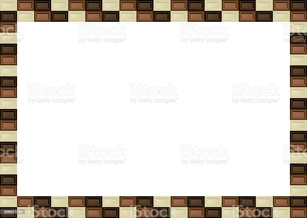 Chocolate Bar Frame Stock Vector Art & More Images of Annual Event ...