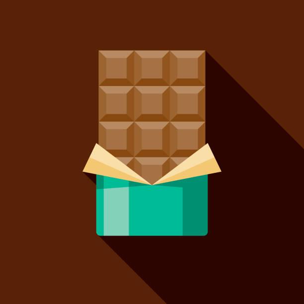 초콜릿 바 아이콘 - 초콜릿 stock illustrations