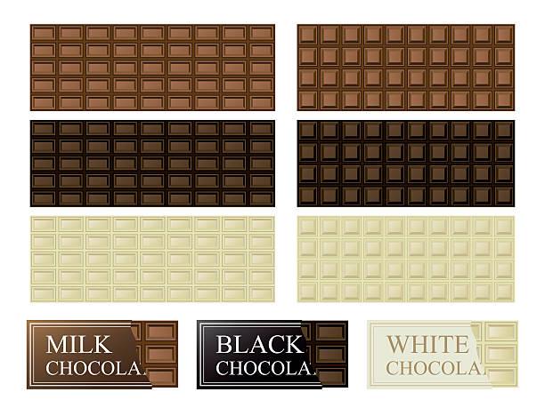 chocolate bar illustration - tortenriegel stock-grafiken, -clipart, -cartoons und -symbole