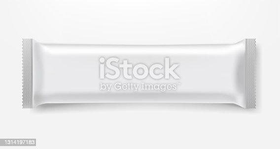 istock Chocolate bar in black foil package vector clipart isolated on white background 1314197183