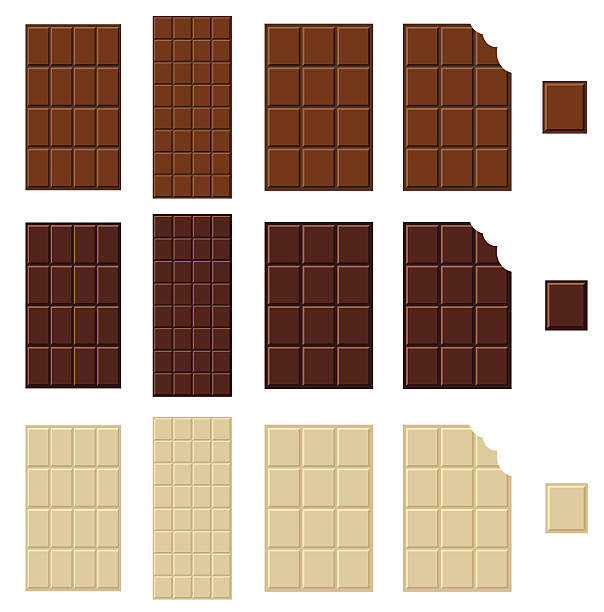 초콜릿 바 격리됨에 - 초콜릿 stock illustrations
