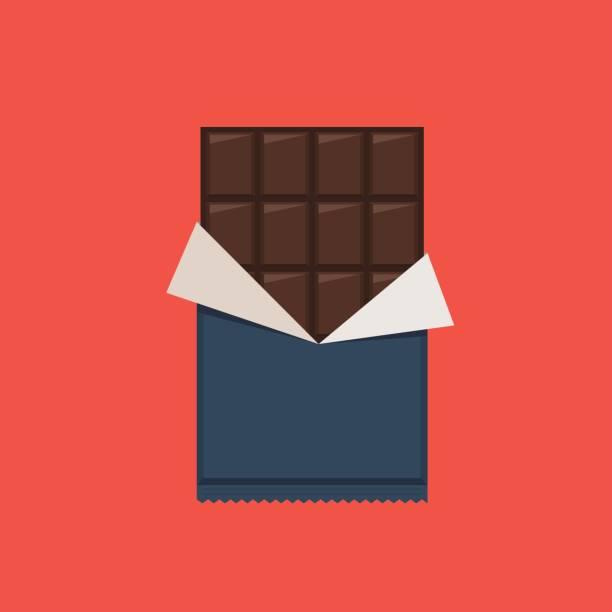 schokoriegel, polyethylen-wrap - schokolade stock-grafiken, -clipart, -cartoons und -symbole