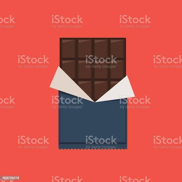초콜릿 바 폴 리 에틸렌 포장 가리기에 대한 스톡 벡터 아트 및 기타 이미지