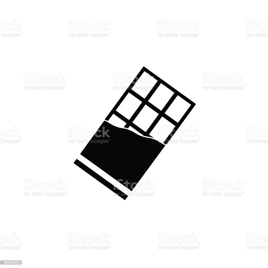 Chocolate Bar Solid Icon Food Drink Elements Stock ... - Dessin Tablette De Chocolat