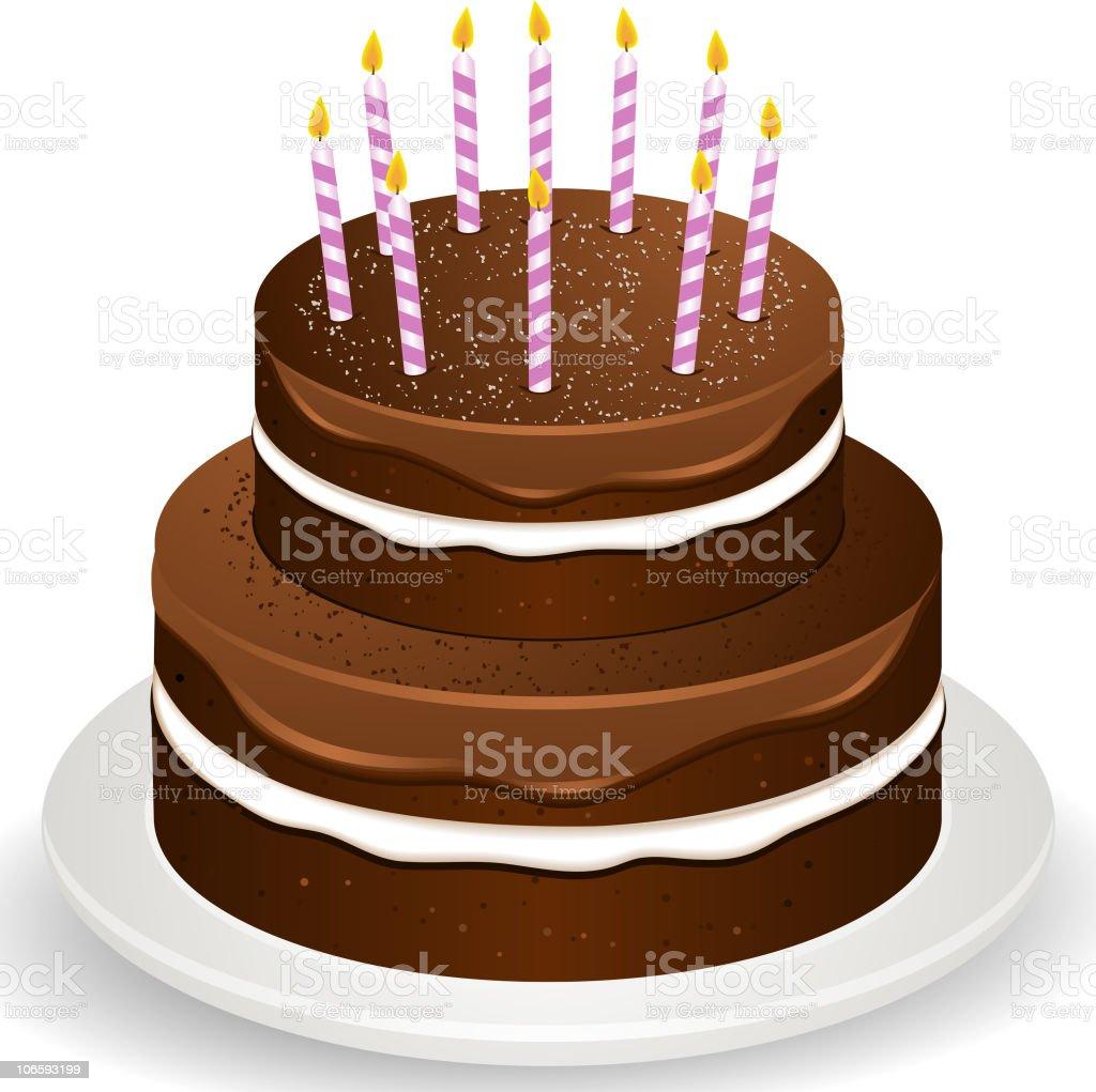 Cool Chocolate Birthday Cake Tier Stockvectorkunst En Meer Beelden Van Personalised Birthday Cards Bromeletsinfo