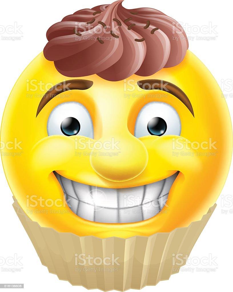 Schokoladenkuchen Mit Emoji Emoticon Stock Vektor Art Und Mehr