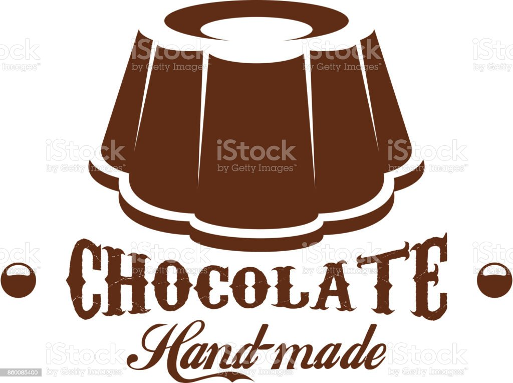 Chocolate cake patisserie candy shop vector icon vector art illustration