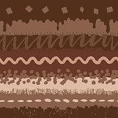 Chocolate cake seamless pattern
