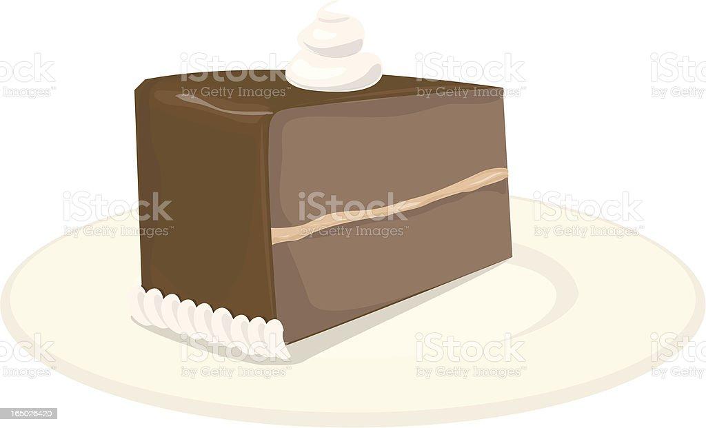 chocolate cake slice royalty-free stock vector art