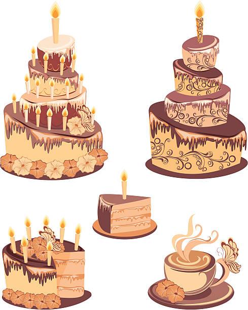 Gâteau au chocolat - Illustration vectorielle