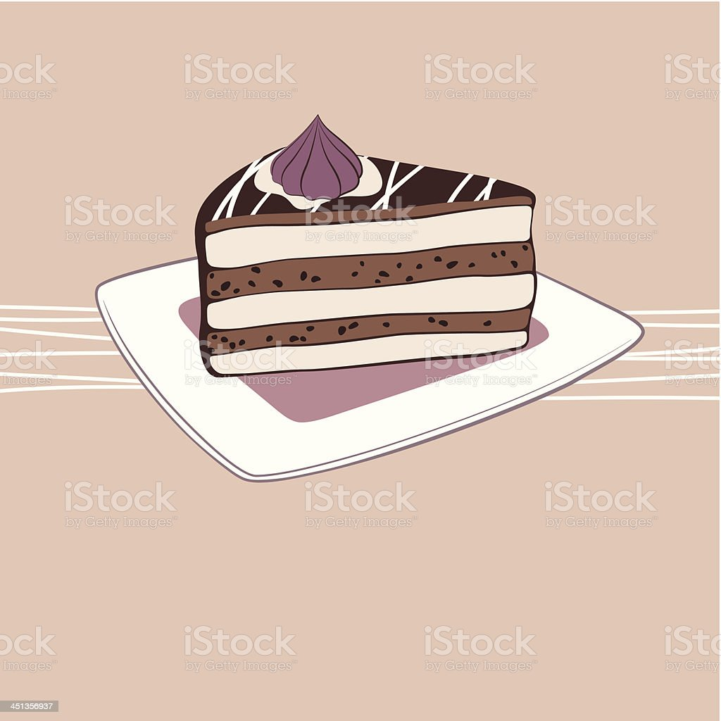 Chocolate cake royalty-free chocolate cake stock vector art & more images of anniversary