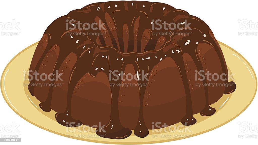 chocolate cake. Vector Illustration