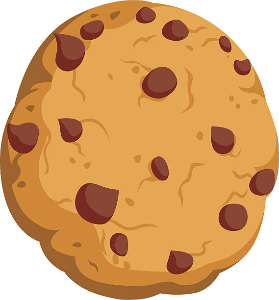 chocolate chip cookie comic - keks stock-grafiken, -clipart, -cartoons und -symbole
