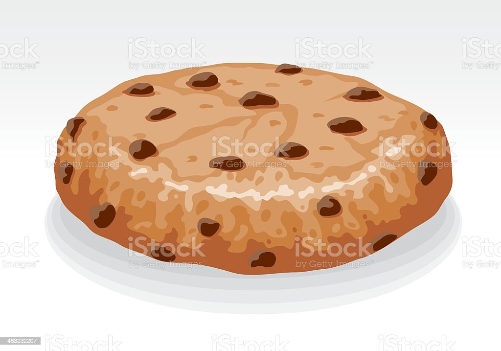 Chocolate Chip Cookie vector art illustration