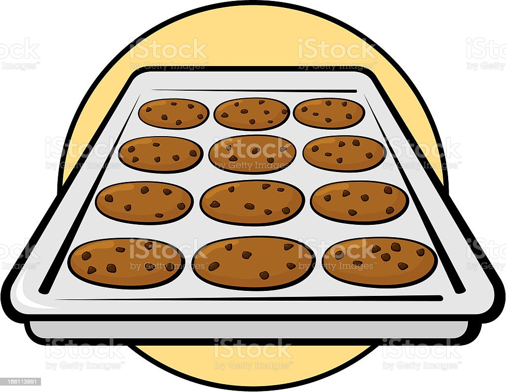 chocolate chip cookies in sheet pan stock vector art more images rh istockphoto com
