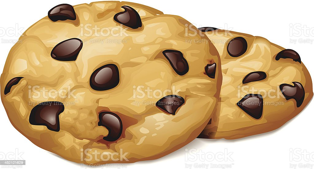 Chocolate Chip Cookies vector art illustration