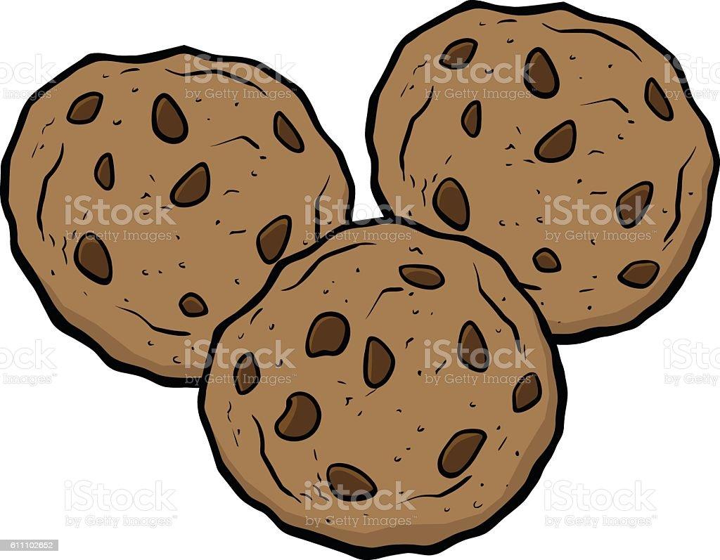 Chocolate Chip Cookies vector art illustration