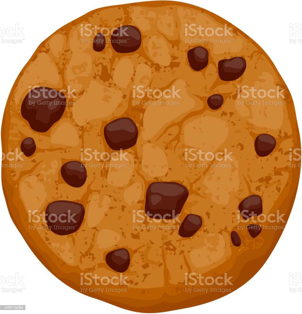 Chocolate chips cookie vector illustration vector art illustration