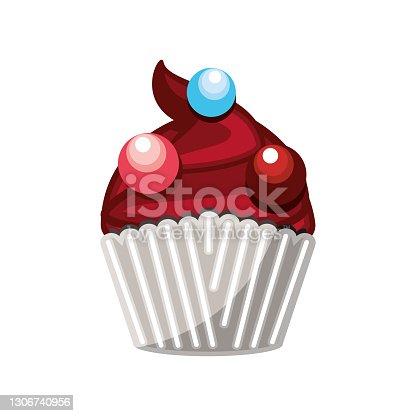 istock chocolate cupcake chips 1306740956