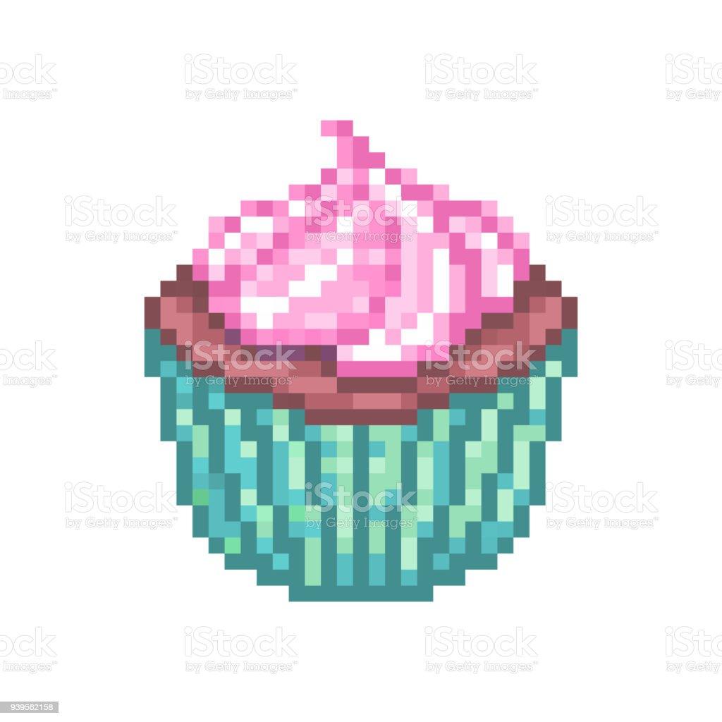 Coupe Du Gâteau Au Chocolat Avec Glaçage Crème Rose Dans Une