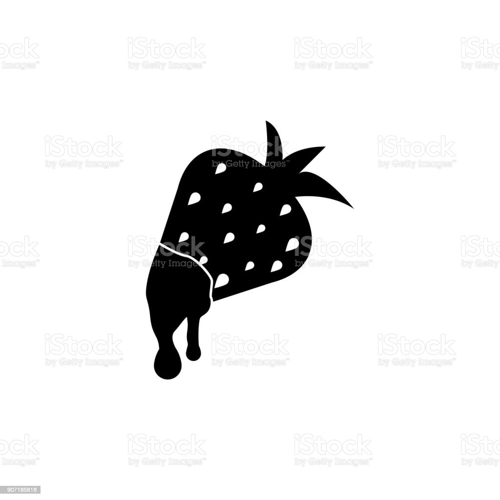 Chocolate dipped strawberry iconchocolates in heart boxes icon. Love or couple element icon. Premium quality graphic design. Signs, outline symbols collection icon for websites vector art illustration