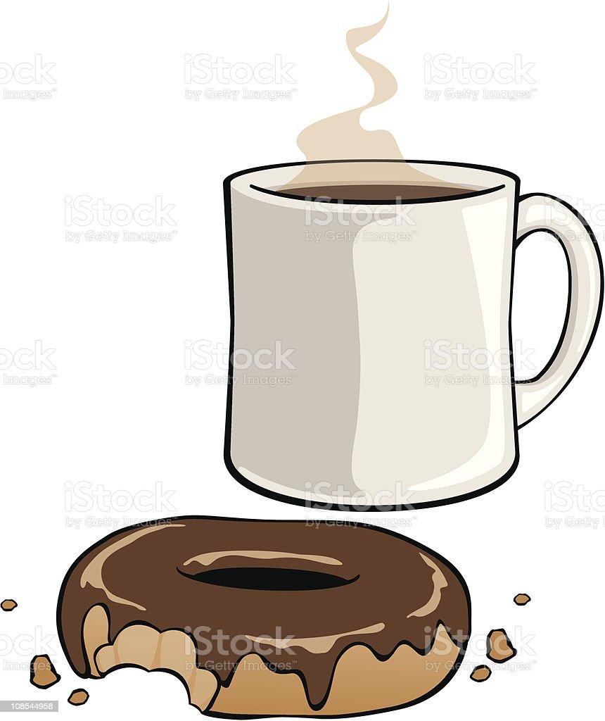 Chocolate Donut royalty-free stock vector art
