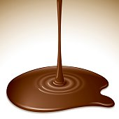 Chocolate dripping. Everything is organized into 3 layers. Transparency is used in this ai10 eps file.