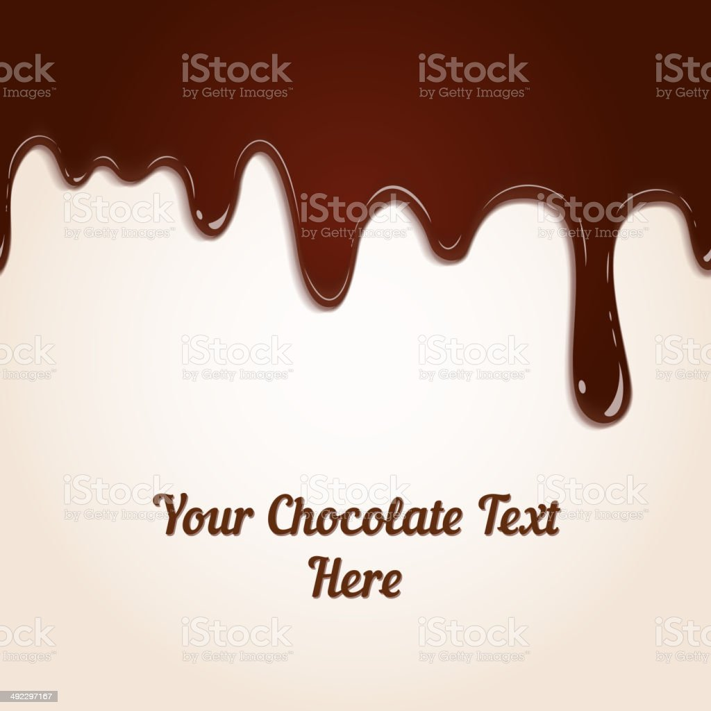 chocolate dripping vector art illustration
