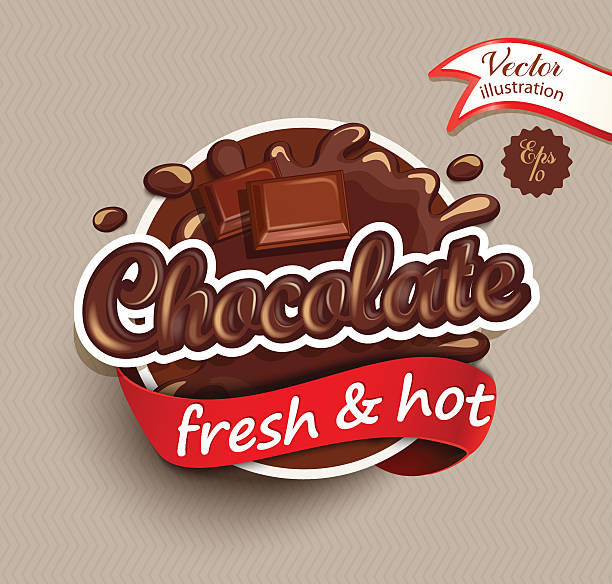 bildbanksillustrationer, clip art samt tecknat material och ikoner med chocolate drops and blot with lettering. - departementet chocó colombia
