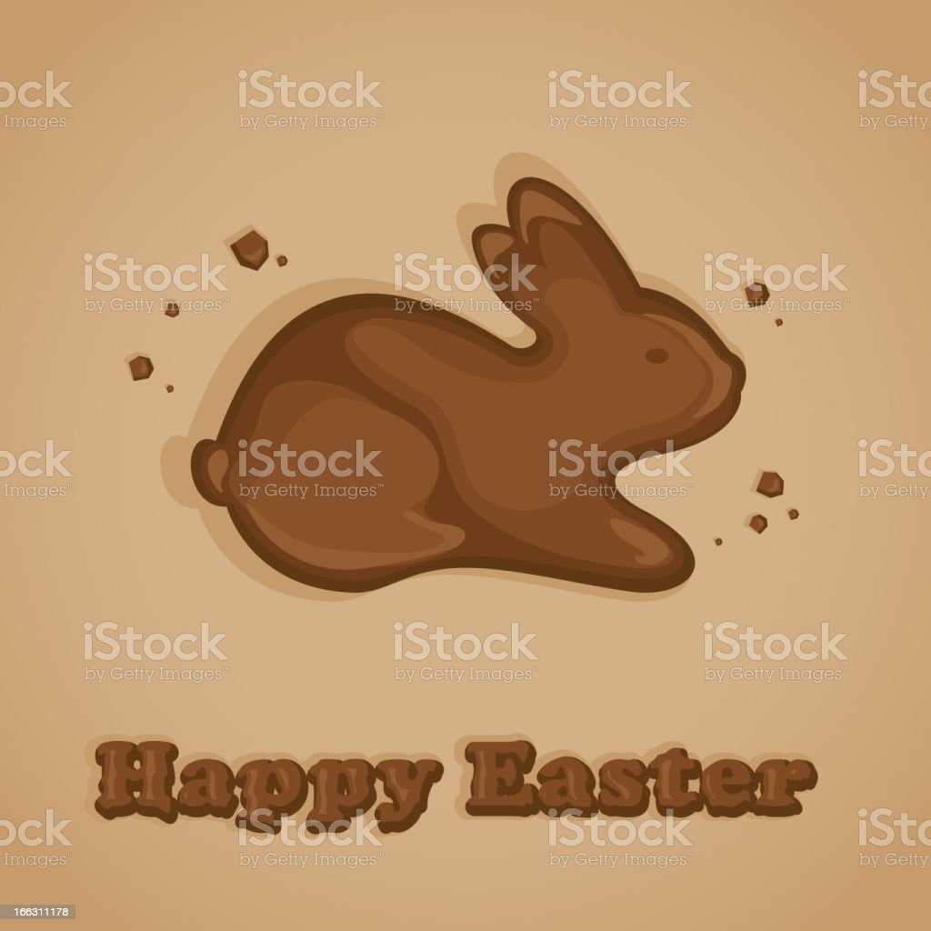 Chocolate Easter bunny vector art illustration