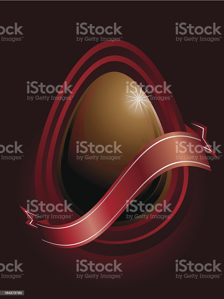 chocolate easter egg royalty-free stock vector art