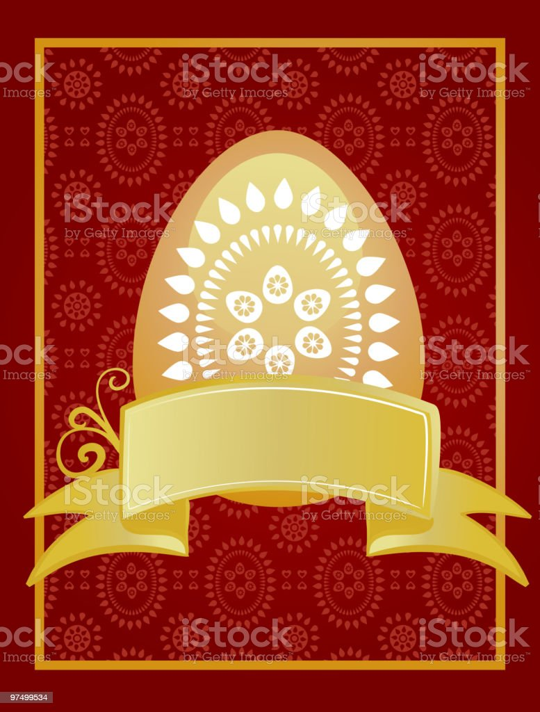 Chocolate Easter egg with a ribbon royalty-free chocolate easter egg with a ribbon stock vector art & more images of art
