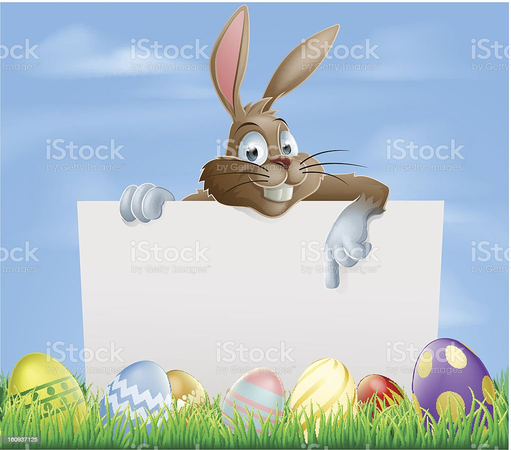 Chocolate Easter eggs sign royalty-free stock vector art