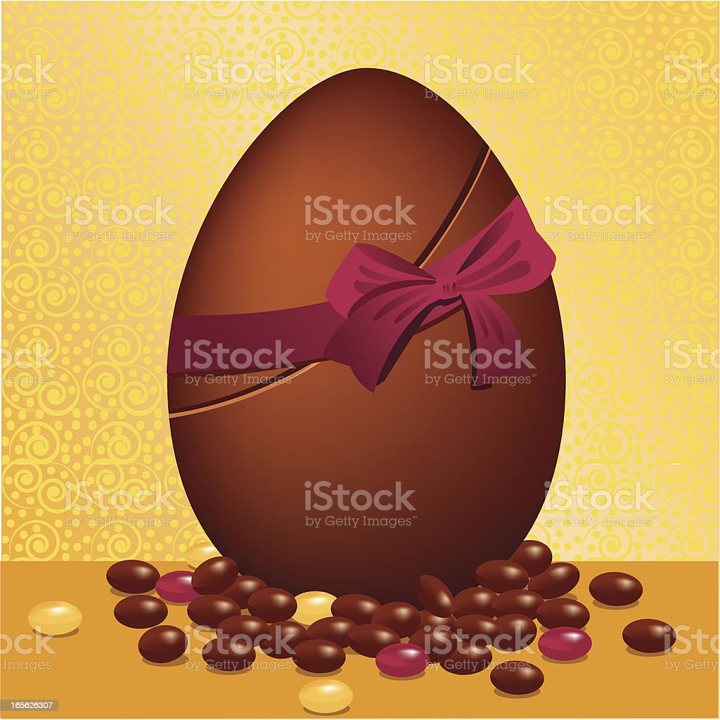 Chocolate easteregg royalty-free chocolate easteregg stock vector art & more images of backgrounds