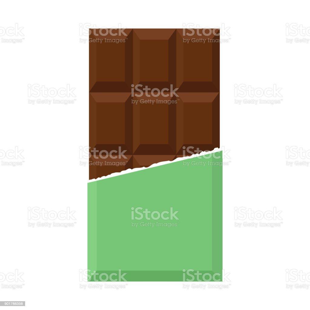 초콜릿 평면 디자인 - 로열티 프리 0명 벡터 아트
