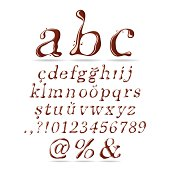 Chocolate Font Lower Case Italic