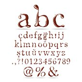 Chocolate Font Lower Case