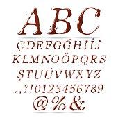 Chocolate Font Upper Case Italic