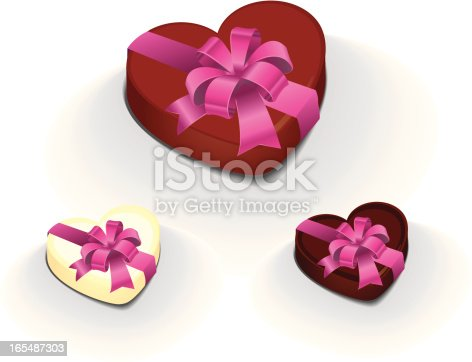 chocolate heart with ribbon