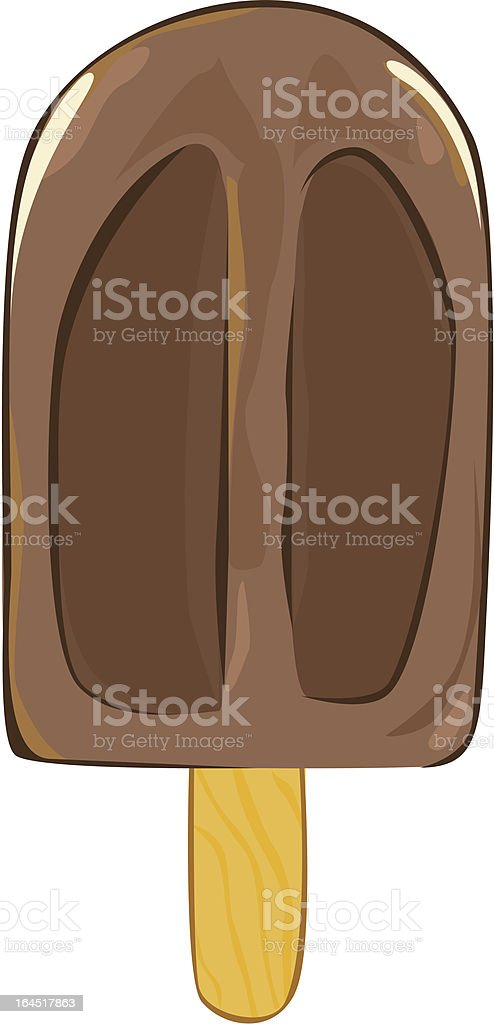 Chocolate ice royalty-free stock vector art