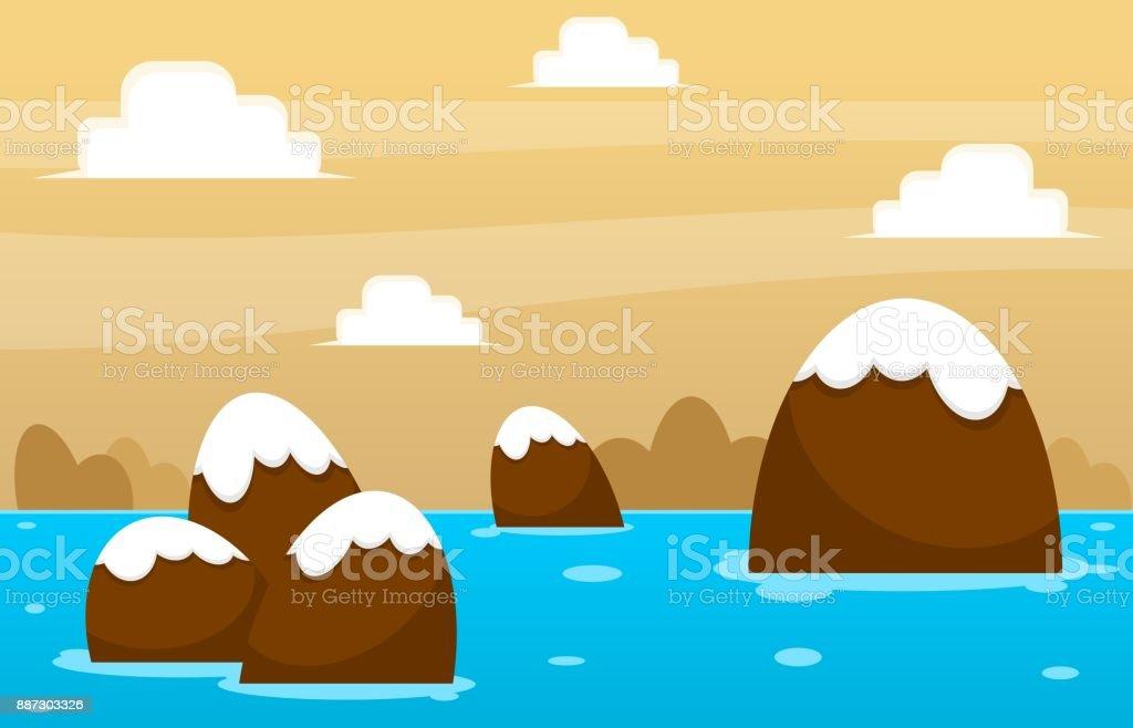 Chocolate Island Game Background vector art illustration