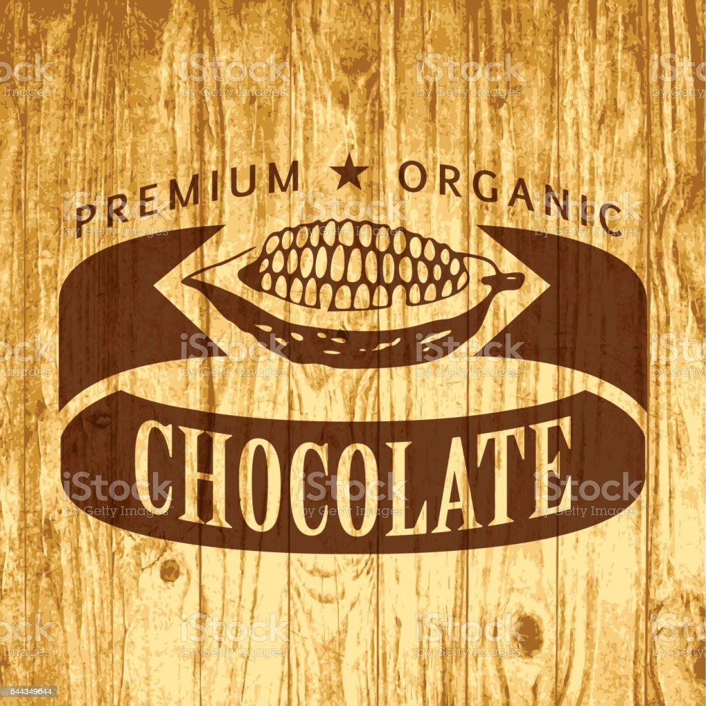 Chocolate label vector art illustration
