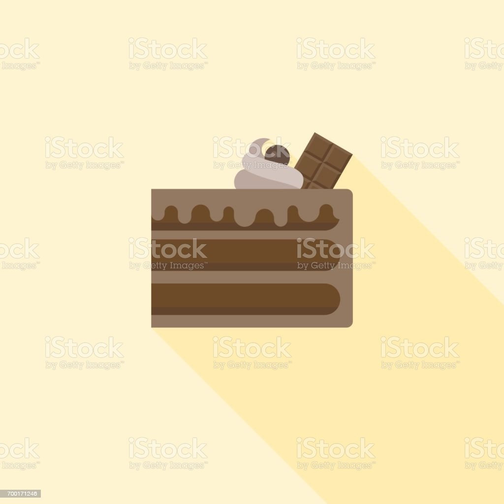 Chocolate layer cake vector art illustration
