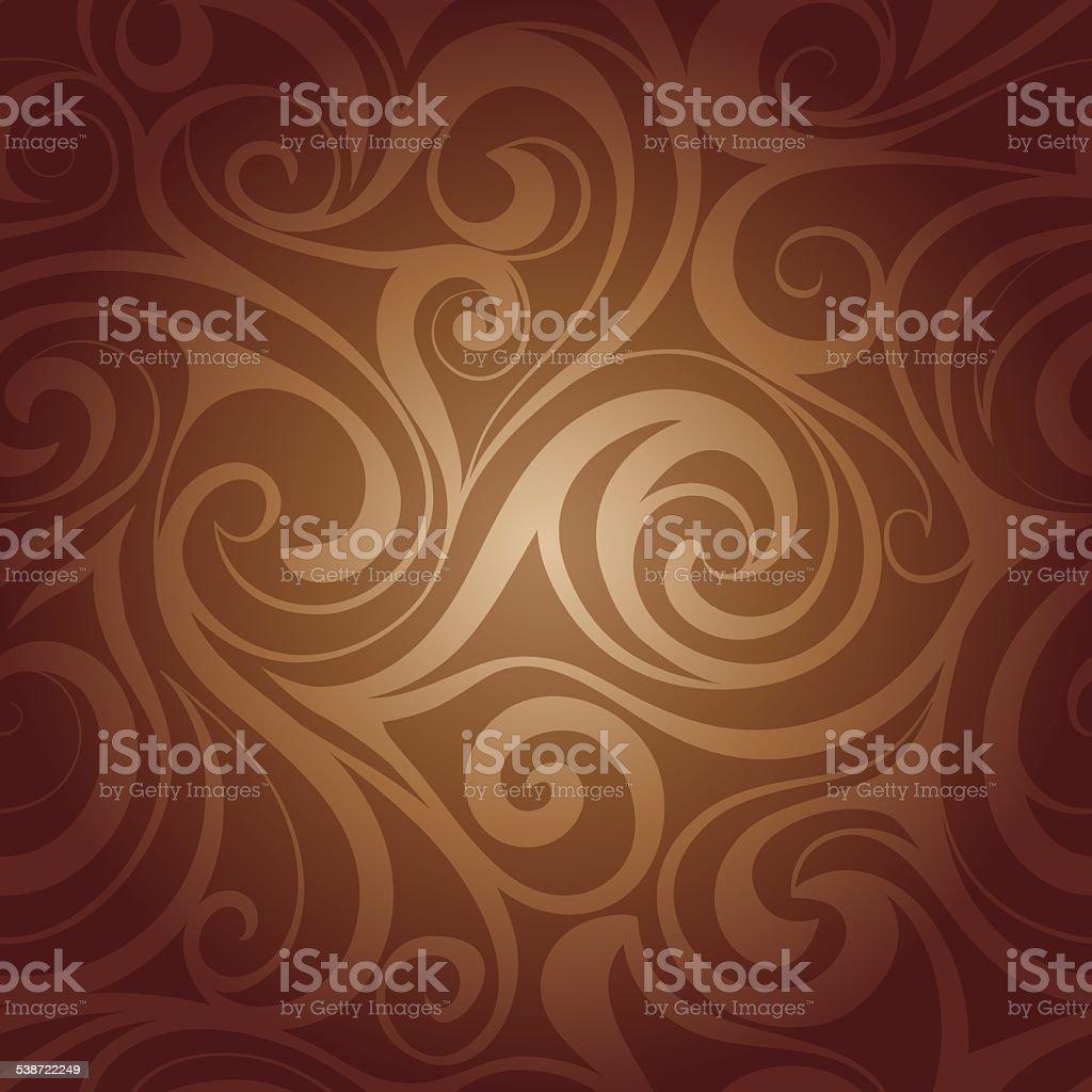 Chocolate liquid swirls vector art illustration
