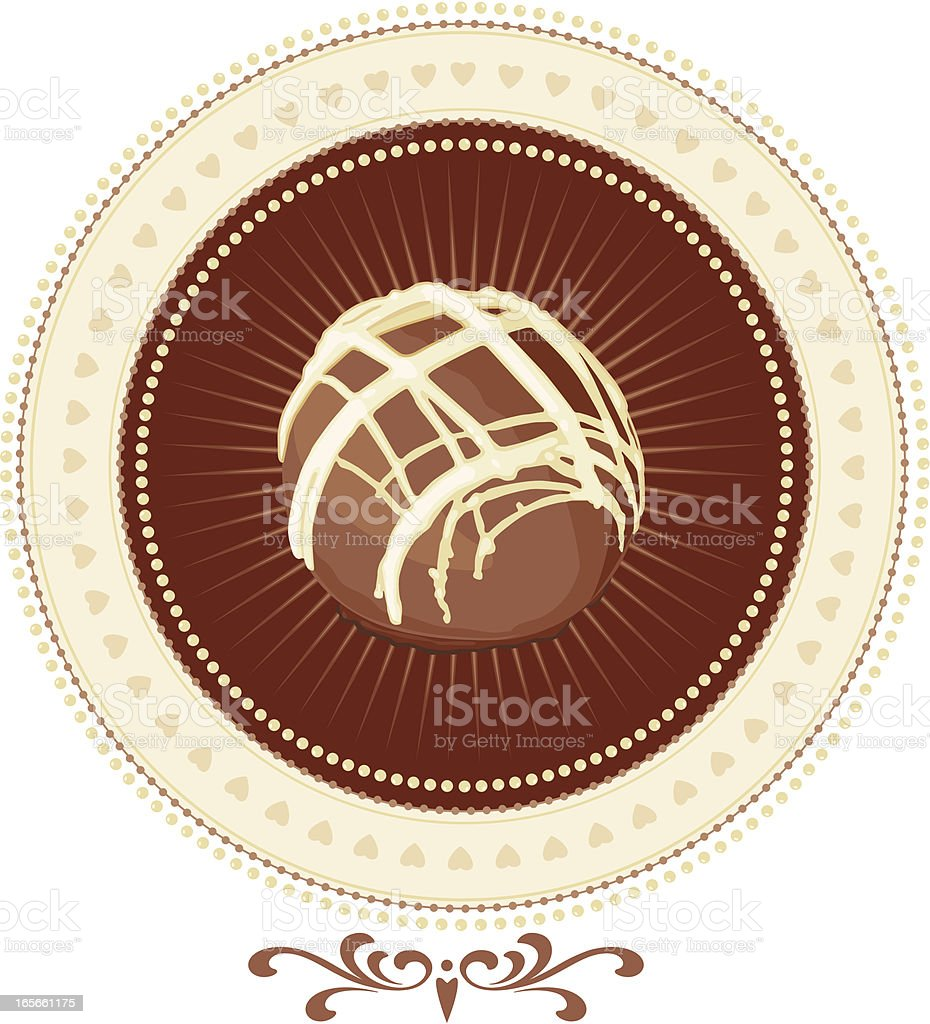Chocolate Love Design Element royalty-free stock vector art