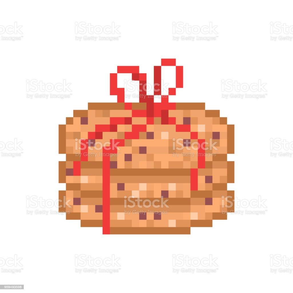 3 Biscuits à Lavoine Chocolat Orné De Ruban Rouge Icône Dart