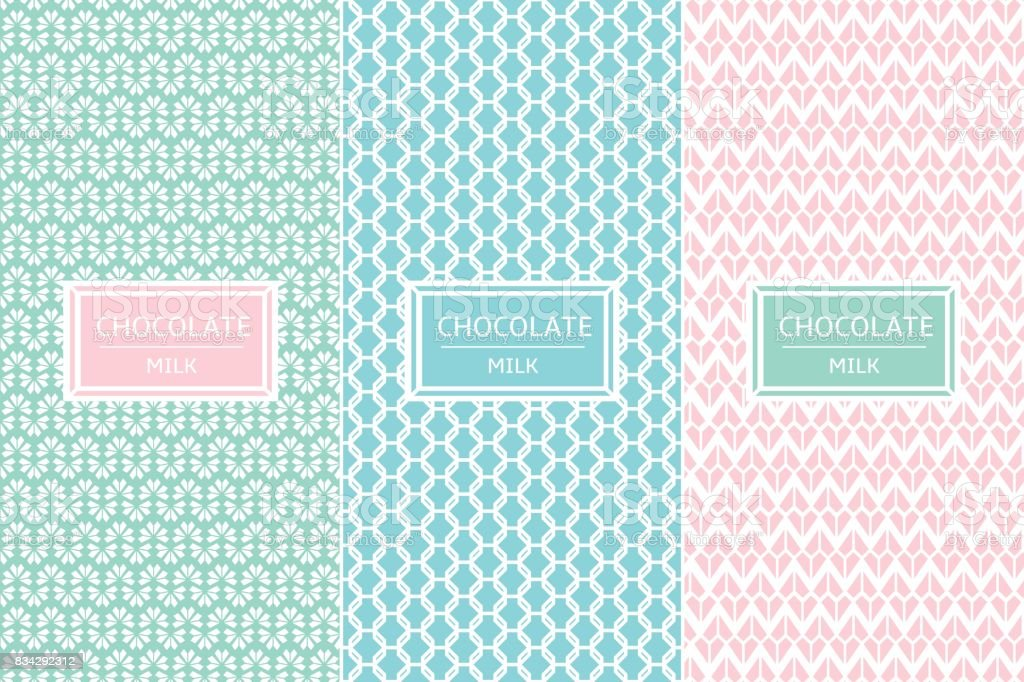 Chocolate Package set template vector