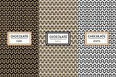 Chocolate Packaging design set